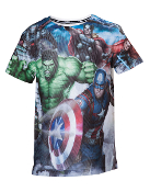 Avengers - Heroes Assemble Msesh T-shirt (Kids)