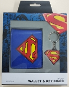 Official Superman Wallet & Keychain Gift Set