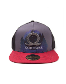 God Of War - Sublimation Print Metal Badge Snapback Cap