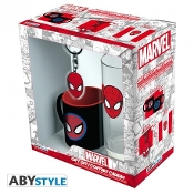"MARVEL - Pck Glass 29cl + Keyring + Mini Mug ""Marvel Spider-man"""