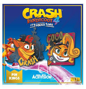Crash Bandicoot Enamel Pin Badge Set 1.1 – Crash and Coco